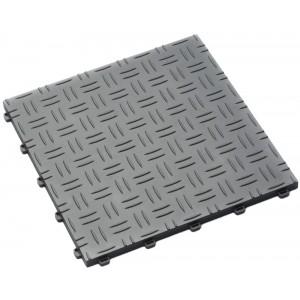 Garagenfliese 18 mm Riffelblechstruktur alu-grau RAL 9006