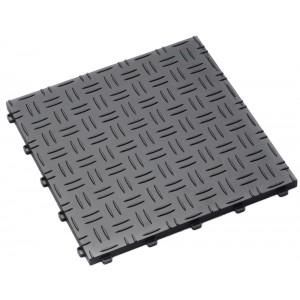 Garagenfliese 18 mm Riffelblechstruktur grau RAL 7012
