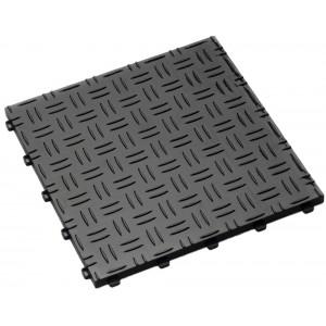 Garagenfliese 18 mm Riffelblechstruktur schwarz RAL 9004