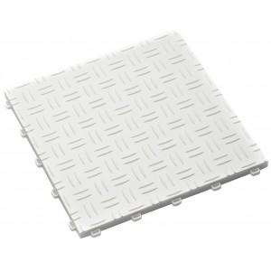 Garagenfliese 18 mm Riffelblechstruktur weiß RAL 9010