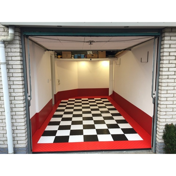 garagenboden einen neuen garagenboden in edelstahlfarbe. Black Bedroom Furniture Sets. Home Design Ideas