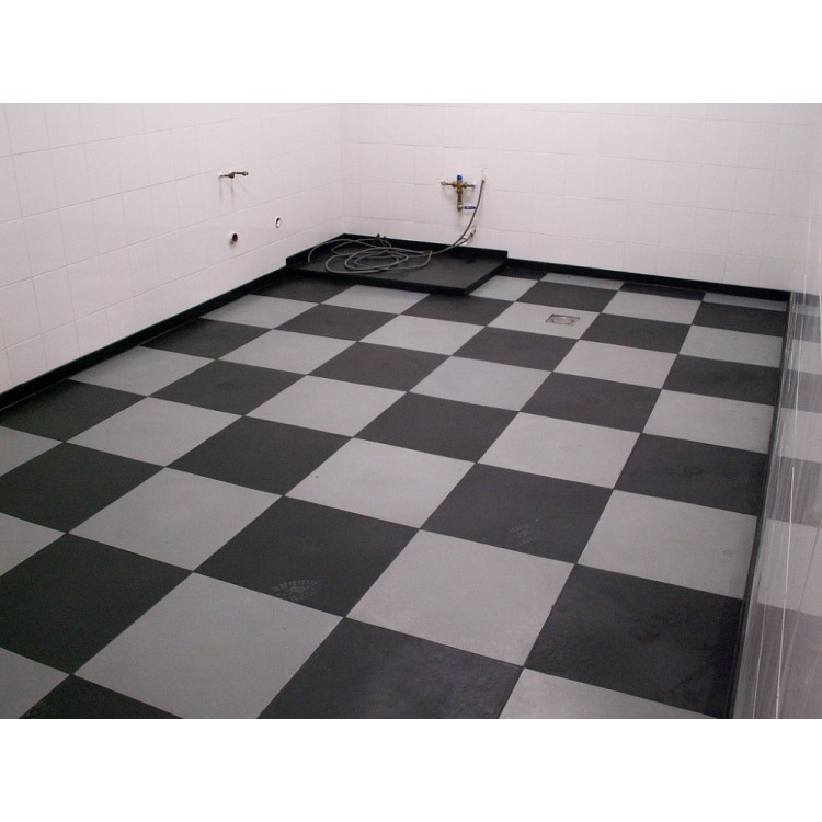 schon ab pro qm einen garagenboden oder werkstattboden mit pvc klickfliesen selber. Black Bedroom Furniture Sets. Home Design Ideas