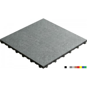Balkonboden-Terrassenboden BoPelle 18 mm silber