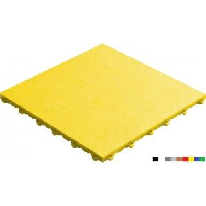 Messeboden mit Lederoptik 18 mm gelb