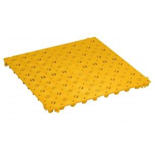 Bodenrost gelocht 25 mm gelb