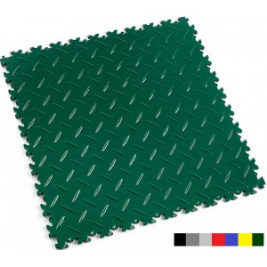 Industriebodenfliese Fortelock INDUSTRY 2010 Riffelblech british racing green