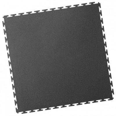 Industrieboden-PVC Klickfliese gekornt-7mm-anthrazit