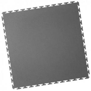 Werkstattboden-PVC Industrie Klickfliese-gekornt-dunkelgrau
