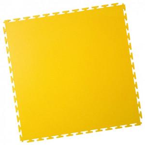 Werkstattboden-PVC Industrie Klickfliese-gekornt-gelb