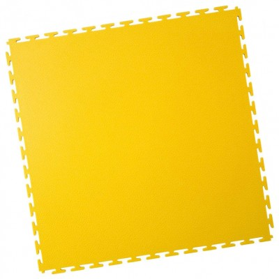 Industrieboden-PVC Klickfliese gekornt-7mm-gelb
