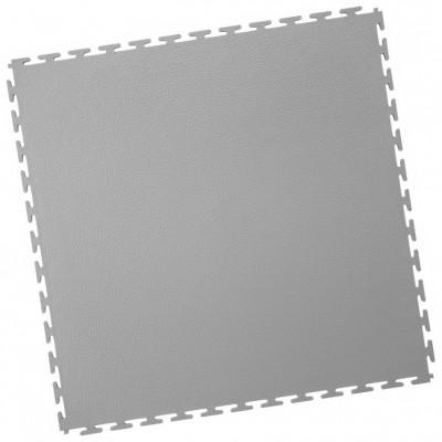 Industrieboden-PVC Klickfliese gekornt-7mm-hellgrau
