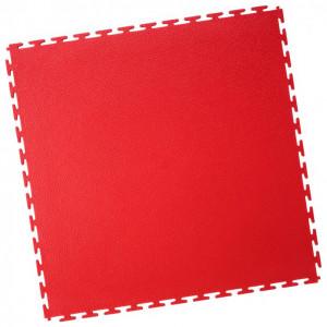 Werkstattboden-PVC Industrie Klickfliese-gekornt-rot