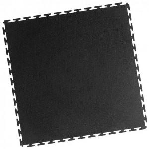 Werkstattboden-PVC Industrie Klickfliese-gekornt-schwarz