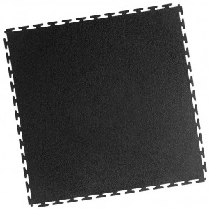 Industrieboden-PVC Klickfliese gekornt-7mm-schwarz