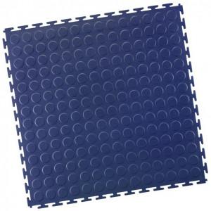 Werkstattboden-PVC Industrie Klickfliese-Noppen-blau