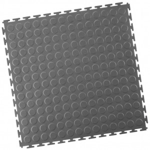 Werkstattboden-PVC Industrie Klickfliese-Noppen-dunkelgrau