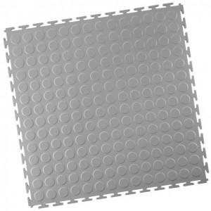 Werkstattboden-PVC Industrie Klickfliese-Noppen-hellgrau