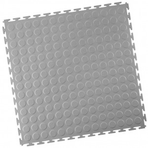 Industrieboden-PVC klickfliese Noppen-7mm-hellgrau