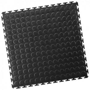 Garagenboden-PVC Industrie Klickfliese-Noppen-schwarz