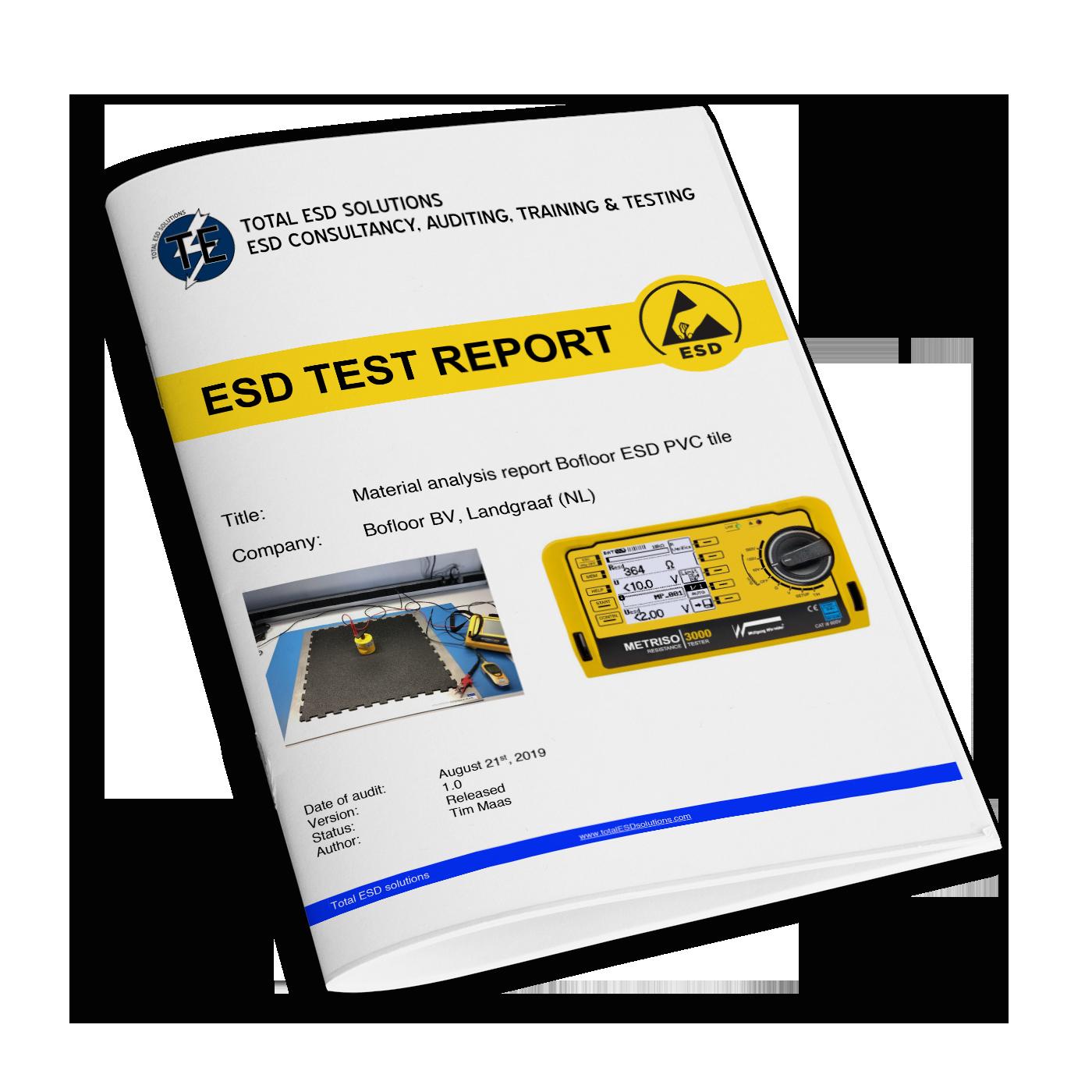 Testbereicht leitfähigkeit ESD Klickfliesen